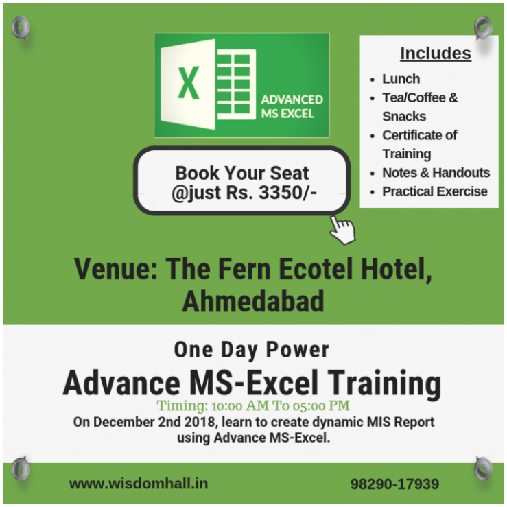 One Day Workshop on MS-Excel