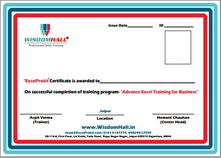 certificate verification advance ms excel training institute in india